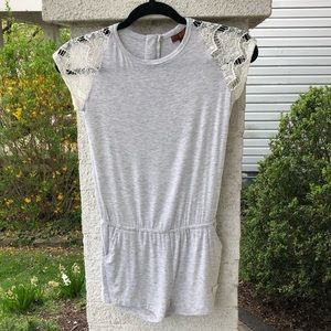 7 For All Mankind GIRLS gray heather romper NWT